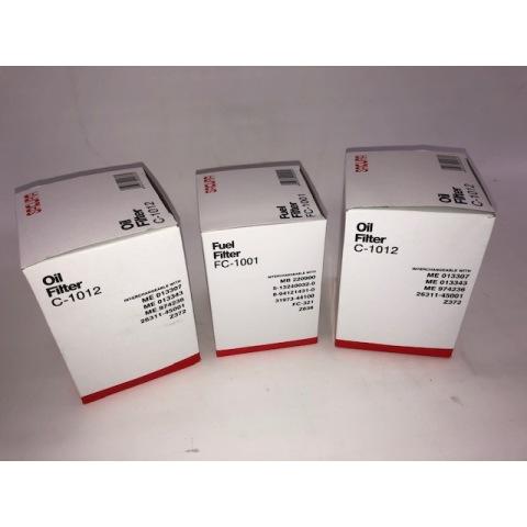 2 oil + 1 fuel filter Pack  Delica 4M40 Diesel