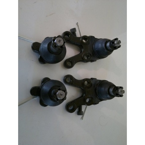 2 upper ball joints + 2 lower ball joints